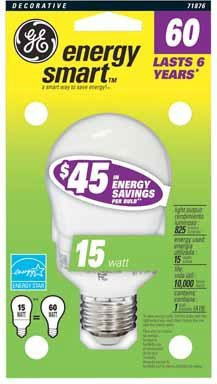 8 each: GE Energy Smart Cfl Aline (71876) by GE Lighting (Energy Cfl Smart)