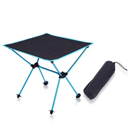 Table de Jardin Pliante extérieure Portable Table de Camping pour Pique-Nique de pêche (Couleur : Bleu)