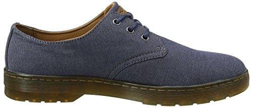 Dr. Martens Herren Delray True Navy Chambray Twill Sneaker Blau (true Navy)