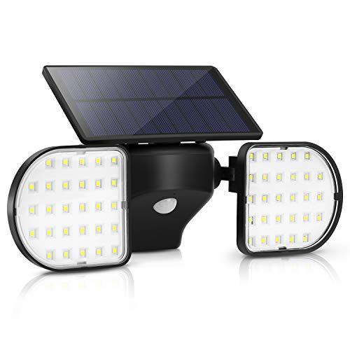 OUSFOT Solarleuchten für Außen mit bewegungsmelder 56 LEDs Solarlampen für Außen Solarleuchten Garten Wasserdicht IP65 Einstellbar
