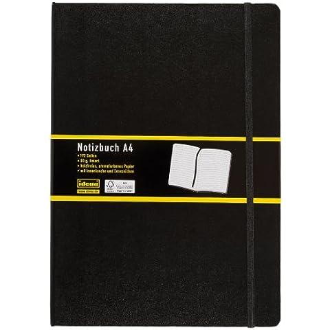 Idena 209292 - Cuaderno de notas con marcador (A4, rayado), color negro