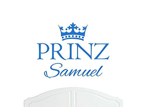 Prinz Samuel großer Wand-Aufkleber mit Krone, Wand-Dekoration, Wand-Aufkleber, Tapete, Vinylabziehbild-Wahl der Farben / Sticker