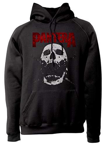 LaMAGLIERIA Unisex-Hoodie Pantera - Skull & Swords Kapuzenpullover Metal Rock Band, XL, Schwarz - Pantera-metal-skull T-shirt