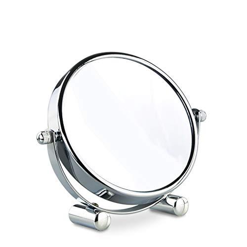 Kompaktspiegel kompaktspiegel mit led 3x / 10x Vergrößerungsspiegel 5 Zoll runder Schminkspiegel Bad oder Schlafzimmer tragbarer doppelseitiger Glasrahmen 360 Grad drehbarer tragbarer Spiegel der Reis -
