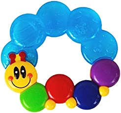 GoodStart Multi Color 100% BPA Free Silicone Teether for Babies in Caterpillar Shape