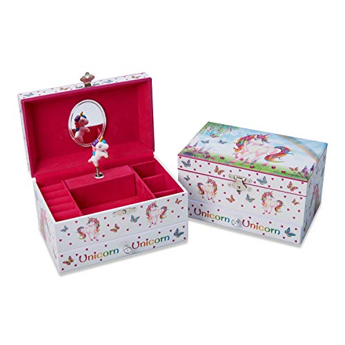 Caja de Música con diseño de Unicornio - Joyero Musical para niñas - Lucy Locket