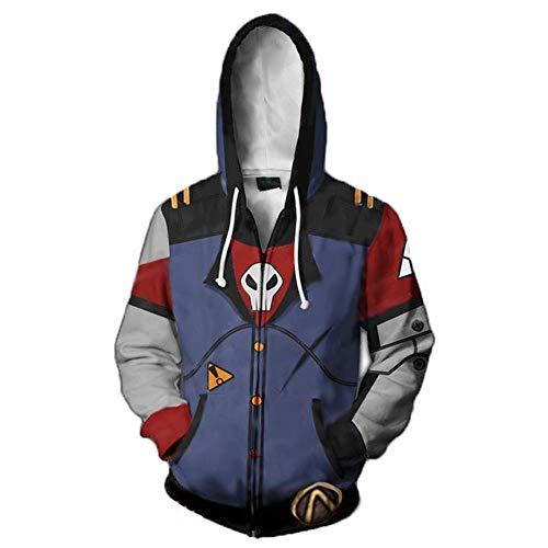 me 3D Cosplay Druck Hoodie Kapuzenpullover Langarm Sweatshirt Kapuzenjacke Mit Borderlands Zipper ()