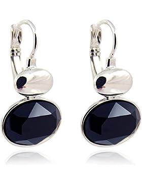 Ohrringe mit Kristallen von Swarovski® Silber Jet Schwarz - Ohrhänger von NOBEL SCHMUCK