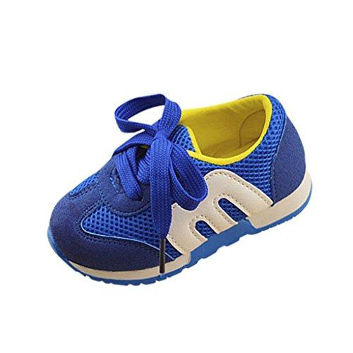 Unisex Mesh Hohl Sneaker Kleinkind Kinder, DoraMe Baby Jungen Mädchen Atmungsaktive Turnschuhe Flache Loafers Sport Schuhe Läuft Weich Boden Schuhe für 1-6 Jahr (5.5-6 Jahr/Size(CN):30, Blau) (Dc Kinder-tag Shoes)