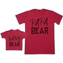 Baby Bear & Papa Bear - regalo para padres y bebés en un camiseta para bebés y una camiseta de hombre a juego
