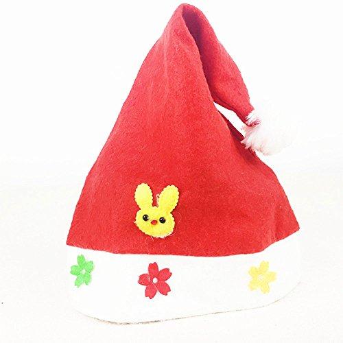 Cinlla Christmas Ornaments Ein Netter Kaninchen Weich Weihnachtsmützen für Kinder Erwachsene Familie Themenparty Feiertag Cosplay Weihnachtsgeschenke Cap (Wurden Kaninchen Kostüm)
