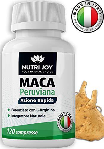 120 COMPRESSE [ 7000mg ] Maca + L-Arginina | Azione Rapida e Potente | Made in Italy | Maca Peruviana, L Arginina, Vitamina C, B6, B12 e Zinco