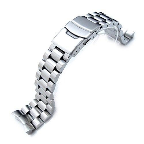 22 mm endmill Watch Band für Seiko Diver SKX007, gebürsteter Edelstahl (Watch Bands Ersatz Seiko)