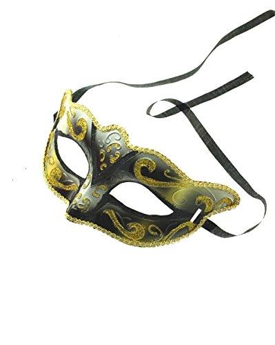 Fancy Ball Dress Kostüm Glitter - Zac's Alter Ego® Classic zwei Ton Glitzer venezianischen Stil Maske ideal für Halloween/Kostüm Partys