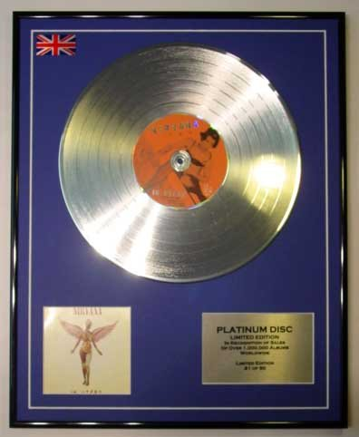 NIRVANA/LTD EDITION CD PLATINUM DISC/IN UTERO