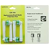 Lot de 4têtes de brosse à dents électrique pour Braun Oral-B 3d White Pro vives gratuit Navire
