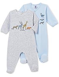 Petit Bateau Lot Trema, Camiseta de Pijama Bebé-para Niños ...