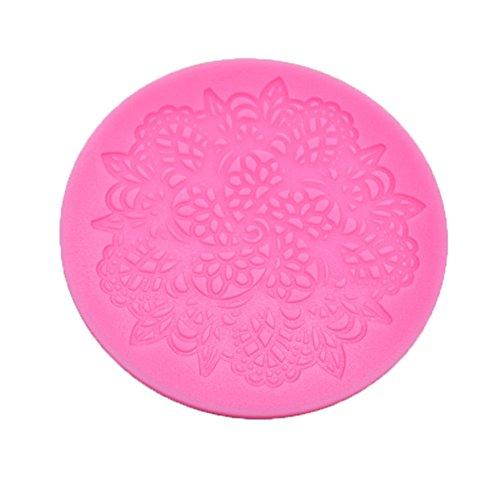 fablcrew Spitze Blume Form Kuchenform Silikon Dekorieren Zucker Form für Home oder Professional Backen (Essbare Spitze Silikon Form)