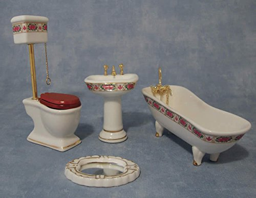 Deluxe Pink High Level Bathroom Set