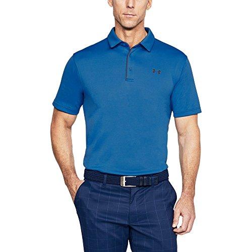 Under Armour Herren Tech Polo Short Sleeve T-Shirt, Herren, 1290140, Mediterranean/Rhino Gray, M