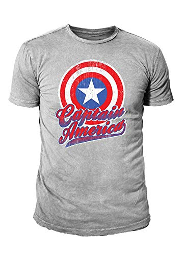ain America Herren Premium T-Shirt - Colour Shield (Hellgrau) (S-XL) (M) ()