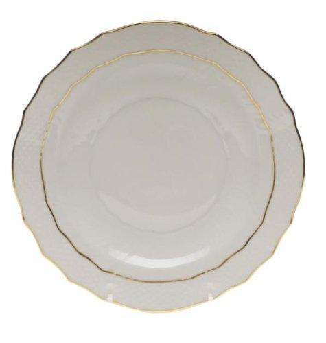 Herend Golden Edge Salad Plate Gold Chop Plate