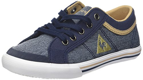 le coq Sportif Unisex-Kinder Saint Gaetan GS Craft Sneaker, Bleu (Dress Blue/Croissant), 36 EU