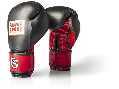 Paffen Sport Allround ECO Boxhandschuhe für das Training; schwarz/rot; 16UZ -
