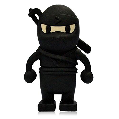818-Shop No31500080008 Hi-Speed 2.0 USB-Sticks 8GB Ninja Schwerter 3D schwarz