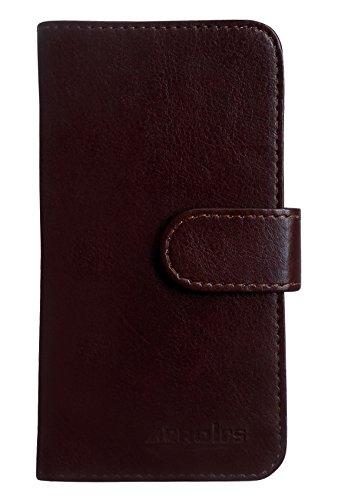 iPhone 6S Book Case Hülle PU Leder Abdeckung - 1 x Gratis klarer Bildschirmschutz (Rosa) Brown