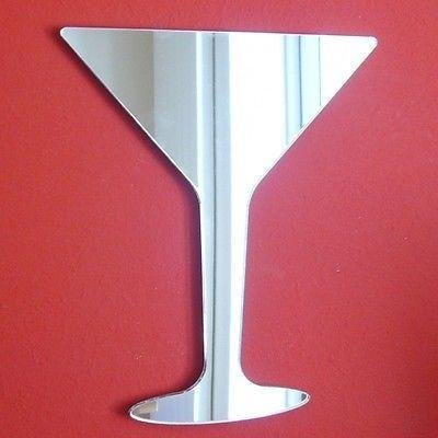 ServeWell Martini Wandspiegel aus Glas, Plastik, 50 x 41 cm