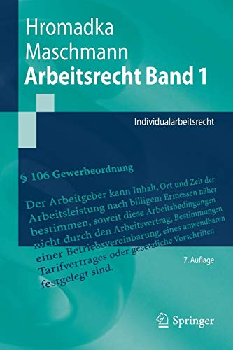 Arbeitsrecht Band 1: Individualarbeitsrecht (Springer-Lehrbuch) -