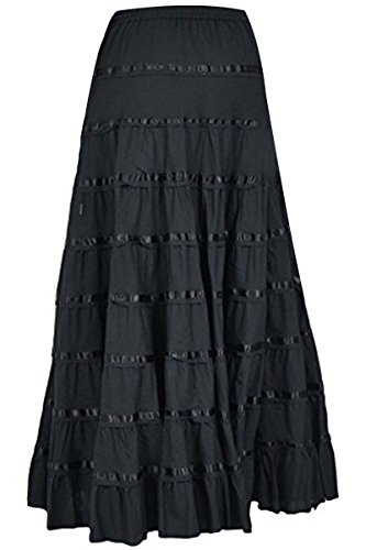 Phagun Frauen Baumwolle Langer Rock 9 Panel Full Circle Rock Maxi Sommer Kleidung