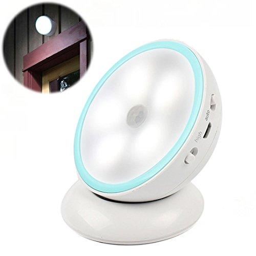 Nacht Bewegung Licht Nachtlicht,Jaminy Magnetic 360 Grad Turn Nachtlicht LED Go Motion Sensor Batterie Wandleuchte (Bewegungs-sensor Mit Blitzlicht)