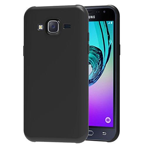 ivoler Funda Carcasa Gel Negro Compatible con Samsung Galaxy J3 2016, Ultra Fina 0,33mm, Silicona TPU de Alta Resistencia y Flexibilidad