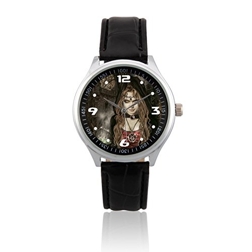 zoomeverydayr-victoria-frances-vampire-leather-strap-wrist-watch-l422-