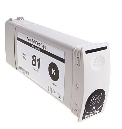 Bubprint Tintenpatrone kompatibel für HP 81 Designjet 5000 5500 Dye black