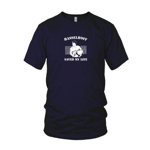 Hasselhoff saved my Life - Herren T-Shirt, Größe: L, dunkelblau