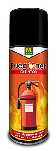 Fuegonet 231396 - Extintor, 6.5 x 24.1 x 6.5 cm, color blanco
