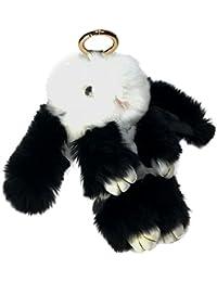 Hase Kaninchenfell Anh?nger Taschenanh?nger Schlüsselanh?nger Echtfell Pelz BB