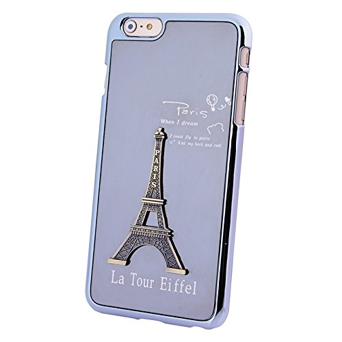Pour IPhone 6 Plus / 6S Plus 3D Metal Tower Décoration Placage Skinning Hard Case JING ( Color : Purple ) Purple
