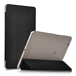 IVSO Huawei MediaPad M3 8.4 Cover Custodia - Slim Smart Cover Custodia Protettiva in pelle PU per Huawei MediaPad M3 8.4 (2016 Version) Tablet, Nero