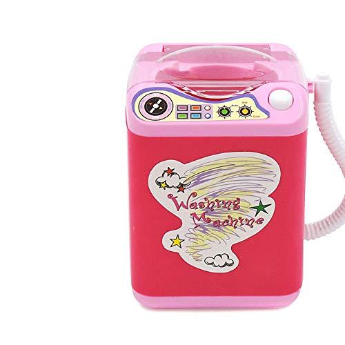 Alextry Mini Multifunktions-Waschmaschine, Spielzeug Beauty Schwamm, Bürsten rot -