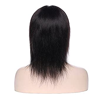 Natural Black Virgin Indian Human Hair Wig Silk Top Base Full Lacelace Wigs With Baby Hair Real Curly Wavy Bob Remy Hot Glueless Long Thick Wig 4