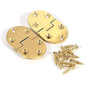 Pair of Heavy Duty Solid Brass Counterflap Hinges 32mm Bar ...