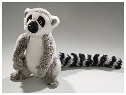 (Carl Dick Katta, Lemur sitzend grau aus Plüsch ca. 21cm, 33cm mit Schwanz 2673)