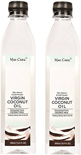 Maxcare Virgin Coconut Oil (Cold Pressed) 500ML Pack of 2  available at amazon for Rs.650