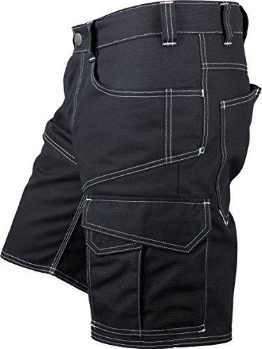 JOB-Kleidung JOB Handwerker Dachdecker Zimmerer Shorts kurze Hose Canvas JAM! schwarz 51552 (44)