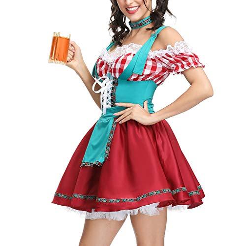 Oliviavane Oktoberfest Dirndl Frauen Kleid Sexy Dessous Beer Maid Kleidung Festival Kleid Cosplay Kostüme Dirndl Kleid Bayerische Bar Maid Party Dirndl
