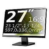 Xianan 27 Zoll 16:9 Breitbild Bildschirmfilter Displayfilter Displayschutz Blickschutzfolie Sichtschutzfolie Privacy Filter 23,5x13,23zoll/597x336mm